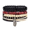 cheap Men's Bracelets-Men's Wrap Bracelet - Vintage, Punk, Rock, Fashion, Hip-Hop Bracelet Jewelry Black For Christmas Gifts Party Anniversary Birthday Gift Sports