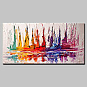 cheap Abstract Paintings-Oil Painting Hand Painted - Abstract European Style Modern Canvas