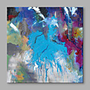 cheap Oil Paintings-Oil Painting Hand Painted - Abstract Abstract Stretched Canvas