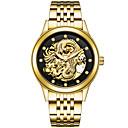 baratos Smartwatches-Homens Relógio Esportivo / Relógio Esqueleto / Relógio Militar Japanês Calendário / Criativo / imitação de diamante Aço Inoxidável Banda Amuleto / Luxo / Brilhante Prata / Dourada / Cores Múltiplas