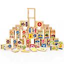 povoljno Pločasti blokovi-Kocke za slaganje za poklon Kocke za slaganje Prirodno drvo 3-6 godina Igračke za kućne ljubimce