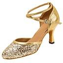cheap Men's Slippers & Flip-Flops-Women's Modern Shoes Sandal / Heel Sparkling Glitter / Buckle Customized Heel Customizable Dance Shoes Gold / Silver / Professional