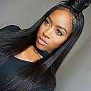 billige Syntetiske parykker uten hette-Ekte hår Helblonde Parykk Rett Parykk 130% Hair Tetthet Naturlig hårlinje Afroamerikansk parykk 100 % håndknyttet Dame Kort Medium Lengde Lang Blondeparykker med menneskehår