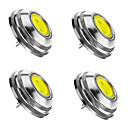 cheap LED Bulbs-SENCART 4pcs 2W 3000/6000/6500lm G4 LED Spotlight 1 LED Beads COB Dimmable Warm White / Cold White / Natural White 12V / 4 pcs / RoHS