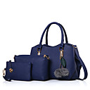 baratos Conjunto de Bolsas-Mulheres Bolsas PU Conjuntos de saco Ziper Vermelho / Rosa / Cinzento
