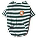 halpa Muotikorvakorut-Koira T-paita Koiran vaatteet Raita Musta Punainen Vihreä Puuvilla Asu Lemmikit Miesten Naisten Rento/arki
