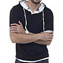 baratos Sapatos de Menino-Homens Camiseta - Esportes Sólido Com Capuz / Manga Curta