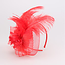 baratos Conjuntos de Bijuteria-Linho / Pena Headbands com 1 Casamento / Ocasião Especial / Casual Capacete