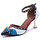 cheap Wedding Shoes-Women's Shoes PU(Polyurethane) Summer Comfort Sandals Stiletto Heel Red / Green / Blue