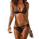 povoljno Motociklističke jakne-Žene Na vezanje oko vrata Crn Navy Plava Fuksija Gaće Bikini Kupaći kostimi - Jednobojni Osnovni L XL XXL Crn / Sexy
