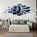 baratos Laminado Impressão De Canvas-Estampados de Arte Abstrato Modern,5 Painéis Horizontal Estampado Decoração de Parede For Decoração para casa