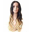 cheap Human Hair Wigs-Human Hair Glueless Full Lace / Full Lace Wig Wavy Wig 130% Ombre Hair / Natural Hairline / African American Wig Ombre Women's Medium Length / Long Human Hair Lace Wig / 100% Hand Tied