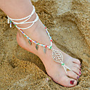 tanie Łańcuszek na kostkę-Sandały Barefoot - Kształt listka Artystyczny Brązowy / Czerwony / Różowy Na Codzienny Casual Damskie