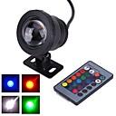 billige Projektører-1pc 10 W Undervandslamper Vandtæt / Fjernstyret / Dekorativ RGB 12 V Udendørsbelysning / Gårdsplads / Have 1 LED Perler