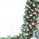halpa Kukkamaalaukset-Keinotekoinen Flowers 1 haara Pastoraali Tyyli Ruusut Seinäkukka
