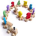 abordables Juguetes de lectura-Coches de juguete Juguete Educativo Tren Cola De madera Niños Chico Chica Juguet Regalo