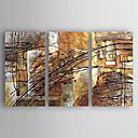 저렴한 추상화-항으로 그린 유화 손으로 그린 - 추상적인 추상화 내부 프레임 포함 / 3판넬