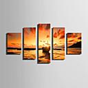 voordelige Prints-Op gespannen doek Vijf panelen Kangas Verticaal Print Muurdecoratie Huisdecoratie