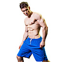 baratos Camisas, Shorts & Calças de Corrida-Homens Shorts de Corrida - Vermelho, Cinzento, Amarelo Esportes Sólido Shorts Fitness, Ginásio, Exercite-se Roupas Esportivas Fitness, Corrida e Yoga, Secagem Rápida, Exterior Sem Elasticidade