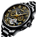cheap Microscopes & Endoscopes-Men's Sport Watch Skeleton Watch Military Watch Japanese Automatic self-winding Stainless Steel Black / Silver 30 m Water Resistant / Waterproof Calendar / date / day Creative Analog Charm Luxury