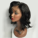 cheap Costume Wigs-Human Hair Glueless Lace Front / Lace Front Wig Loose Wave Wig 150% Natural Hairline / African American Wig / 100% Hand Tied Women's Short / Medium Length