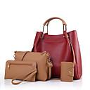 baratos Conjunto de Bolsas-Mulheres Bolsas PU Conjuntos de saco Conjunto de bolsa de 4 pcs Branco / Preto / Vermelho / Conjuntos de sacolas