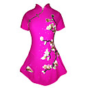 cheap Bakeware-Figure Skating Dress Women's / Girls' Ice Skating Dress Peach Spandex High Elasticity Competition Skating Wear Handmade Jeweled / Rhinestone Short Sleeve Ice Skating / Figure Skating