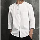 זול נעלי בד ומוקסינים לגברים-אחיד יום יומי / סגנון סיני כותנה / פשתן, חולצה - בגדי ריקוד גברים / שרוול ארוך