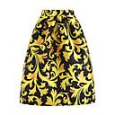 זול עגילים אופנתיים-דפוס צבעוני - חצאיות ליציאה גזרת A בגדי ריקוד נשים מותניים גבוהים / אביב / קיץ / משוחרר
