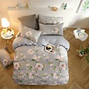 cheap Floral Duvet Covers-Duvet Cover Sets Floral Poly / Cotton Reactive Print 4 PieceBedding Sets / 300 / (If Twin size, only 1 Sham or Pillowcase)