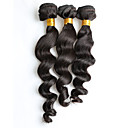 cheap One Pack Hair-new arrvial 150g 3pcs lot 8 26inch brazilian virgin hair loose wavy natural black human hair weaves