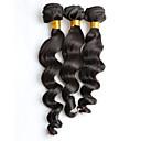 billige Ombré hårforlængelser-3 Bundler Brasiliansk hår Løst, bølget hår Jomfruhår Menneskehår, Bølget 8-26 inch Menneskehår Vævninger Menneskehår Extensions