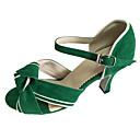 رخيصةأون أحذية عصرية-للمرأة أحذية رقص جلد نوباك صندل كعب مخصص مخصص أحذية الرقص أخضر / داخلي