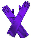 cheap Party Gloves-Faux Leather Opera Length Glove Bridal Gloves / Party / Evening Gloves With Rhinestone