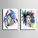 voordelige Prints-Dieren Modern Europese Stijl, Eén paneel Kangas Verticaal Print Muurdecoratie Huisdecoratie