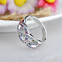cheap Rings-Women's Ring - Rhinestone, Alloy Fashion, Euramerican 5 Fuchsia / Blue / Assorted Color For Birthday / Event / Party