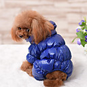 povoljno Odjeća za psa-Pas Jumpsuits Odjeća za psa Jednobojni Crn Dark Blue Crvena Dole Pamuk Kostim Za Zima Muškarci Žene Ležerno / za svaki dan Ugrijati