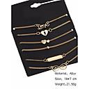 billige Mode Halskæde-Dame Kæde & Lænkearmbånd - Kærlighed Bohemisk Armbånd Guld Til Halloween / Jubilæum / Fødselsdag / Sport