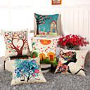 baratos Almofadas de Decoração-1 pçs Algodão / Linho Fronha / Cobertura de Almofada, Floral / Inovador Casual / Tradicional / Clássico