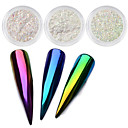 cheap Nail Glitter-top neon sparkle unicorn mirror nail powder 0 2g ultra thin aurora mermaid chrome pi g ment manicure nail diy jewelry