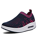 cheap Women's Athletic Shoes-Women's Shoes Tulle Summer Fall Athletic Shoes Walking Shoes Platform Round Toe for Black Dark Blue Gray Fuchsia
