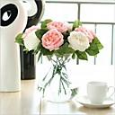 رخيصةأون زهور اصطناعية-زهور اصطناعية 5 فرع الحديث الورود أزهار الطاولة