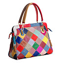 cheap Totes-Women's Bags Cowhide Tote for Event / Party Rainbow