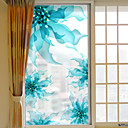 baratos Películas e Adesivos de Janela-Floral/Botânico Adesivo de Janela, PVC/Vinil Material Decoração de janela Sala de Estar Banheiros Shop / Cafe Cozinha