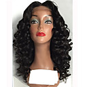 cheap Human Hair Wigs-Human Hair Glueless Lace Front / Lace Front Wig Loose Wave Wig 130% / 180% Natural Hairline / African American Wig / 100% Hand Tied Women's Medium Length / Long Human Hair Lace Wig