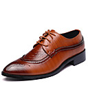 cheap Racks & Holders-Men's Formal Shoes Leather Spring / Fall British Oxfords Walking Shoes Black / Brown / Red / Wedding / Party & Evening