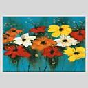 baratos Utensílios de Cozinha-Pintura a Óleo Pintados à mão - Floral / Botânico Abstracto Tela de pintura