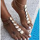 ieftine Seturi de bijuterii-Lănțișor Picior Floare Vintage Pentru femei Auriu / Argintiu Bijuterii de corp Pentru Casual