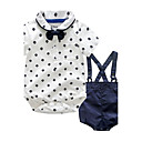 cheap Baby Boys' Clothing Sets-Baby Children's Party / Evening Outdoor Casual/Daily Going out Holiday Polka Dot Clothing Set, Cotton Autumn/Fall Summer Dresswear Short