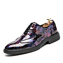 cheap Men's Slip-ons & Loafers-Men's Formal Shoes Patent Leather Fall / Winter Wedding Shoes Black / Wine / Light Green / Party & Evening / Printed Oxfords